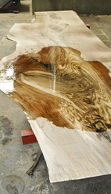 This Bastogne Walnut flitch has a wonderfully unusual shape that would make beautiful table tops. It also has exquisite rich color with some figure. This particular log is from Northern California.