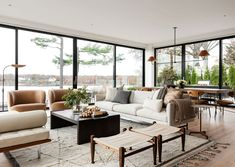 8 Boho Coastal Living Room Ideas That'll Convince You to Stay Awhile Decor, Modern Dining, Home Living Room, Home, Coastal Living Rooms, New York Projects, Beautiful Modern Homes, Home And Living, Great Rooms