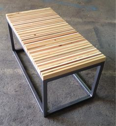 Reclaimed Pallet Wood and Steel White End / Side Table | Shipping ...