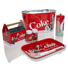 Coca-Cola 5-piece Beverage Tub Set