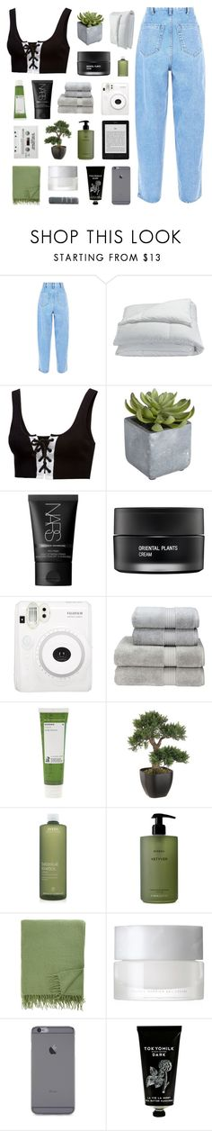 """magnolia"" by apparentlys ❤ liked on Polyvore featuring Frette, Puma, Pier 1 Imports, NARS Cosmetics, Koh Gen Do, Fuji, Christy, Korres, Aveda and Byredo"