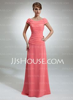 Mother of the Bride Dresses - $138.99 - A-Line/Princess Off-the-Shoulder Floor-Length Chiffon Mother of the Bride Dress With Ruffle Beading (008006053) http://jjshouse.com/A-Line-Princess-Off-The-Shoulder-Floor-Length-Chiffon-Mother-Of-The-Bride-Dress-With-Ruffle-Beading-008006053-g6053