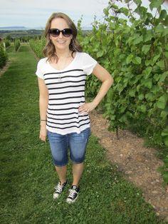 www.glitterarygirl.blogspot.com #oldnavy #stripes #converse #chucks #coach #denim #casual