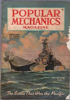 Cover of Popular Mechanics Magazine, February 1945.  I do not know if this is the issue in question.