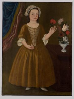Catherina Elmendorf by an unknown artist, 1752. She was born in 1747 in Kingston, Ulster County, NY
