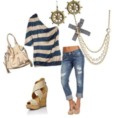 Love the shirt, jeans, shoes, bag... :)