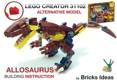 Lego Creator Sets, The Creator, Lego Dinosaurus, Lego Pokemon, Lego Models, Diy Toys, Bricks, Dinosaurs, Alternative
