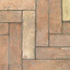Reclaimed Natural Parquet Terracotta Tiles 3x12 from Reclaimed Terracotta Collection Terracotta Floor, Austro Hungarian, House Tiles, Tumbled Stones, Flooring Options, Wine Cellar, Light Colors, Natural Stones, Tile Floor