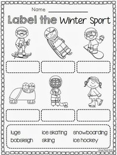 Winter Sports Enjoy these freebies from my Winter Olympics Unit! Check Out My FULL Winter Olympics Literacy Unit Here Includes: Match the Winter Sport page 2 coloring pages 2 writing pages Class Book Wordsearch Winter Olympics 2014, Winter Olympic Games, Winter Games, Summer Olympics, Usa Olympics, Winter Activities, Olympic Idea, Olympic Sports, Olympic Crafts