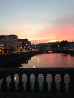 Gorgeous sunset over the River Lee, September, Cork, Ireland.