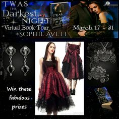 Win a Gothic Dress, jewelry etc... A unique giveaway to celebrate Twas the Darkest Night by Sophie Avett