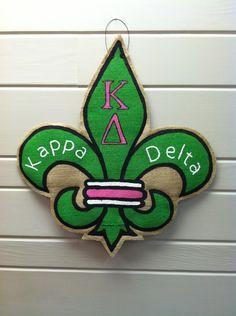 Burlap Door Hanger - Kappa Delta. via Etsy.