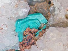 Chalcophyllite, Cu++18Al2(AsO4)3(SO4)3(OH)27•33(H2O), Clara Mine, Wolfach, Black Forest, Germany. Fov 5.75 mm. Photo loparit