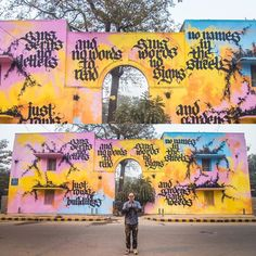 By @nielsshoemeulman at @startindia in Delhi - http://globalstreetart.com/startindia  #globalstreetart