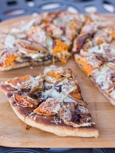 Rosemary Roasted Sweet Potato & Balsamic Caramelized Onion Grilled Pizza