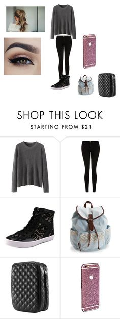 """""""Untitled #282"""" by emmi-princess on Polyvore featuring Current/Elliott, Rebecca Minkoff, Aéropostale, Trish McEvoy, women's clothing, women, female, woman, misses and juniors"""