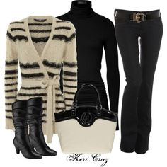Black and white sophistication by keri-cruz on Polyvore featuring polyvore, fashion, style, Jane Norman, Donna Karan, 7 For All Mankind, John Lewis, Armani Jeans and Karen Millen