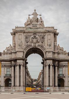 Triumph Arch in Rua Augusta, Lisbon, Portugal. #MostBeautifulArchitecture #Lisbon