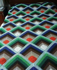 Crochet Patterns Free Afghan Pyramid Crochet Afghan Pattern Free Pattern Center Crochet Patterns Free Afghan Blue Ba Blankets Crochet Fromy Love Design Ideas For Make Ba. Crochet Patterns Free Afghan All Double Crochet Afghan Kris. Motifs Afghans, Crochet Motifs, Afghan Crochet Patterns, Crochet Stitches, Quilt Patterns, Knitting Patterns, Crochet Afghans, Crochet Mandala, Blanket Crochet