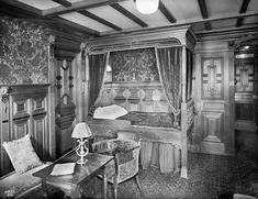 original photos of the titanic staterooms.