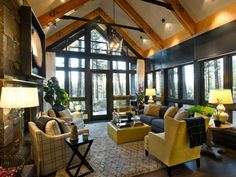 2014 Living Room Trends Preparing Up To Date Living: Inspiring Vaulted Ceiling Design With Wood Beams As One Of Best 2014 Living Room Designs Trends