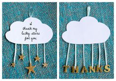 DIY cloud and stars card