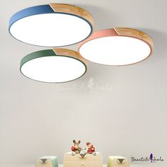 Macaron Modern Acrylic Round Flushmount Kids Bedroom LED Ceiling Light in Warm/White, Fashion Style Kid's Lighting Kids Ceiling Lights, Outdoor Ceiling Lights, Kids Lighting, Led Ceiling, House Lighting, Antique Light Fixtures, Bedroom Light Fixtures, Bathroom Ceiling Light, Bedroom Ceiling
