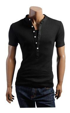 Wholesale Beautiful & Fashionable Leave Two Short Sleeve Men T-shirt----Black  top dresses