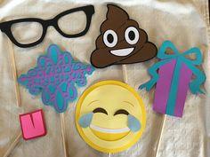 Custom handmade Emoji photo booth prop by ErinsHandcraftedCrea
