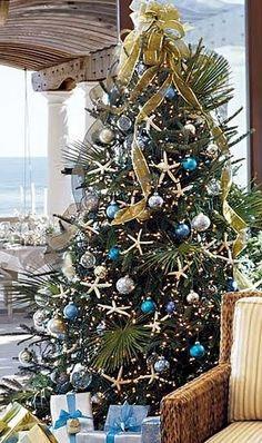 {House & Flourish} Things to Love- Coastal Christmas Trees