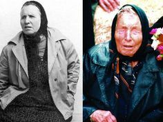 A clairvoyant who can predict the future: A younger Baba Vanga in an undated photograph (left) and as she looked in the last years of her life