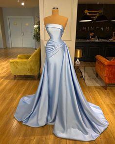 Modest Evening Gowns, Blue Evening Dresses, Strapless Dress Formal, Gala Dresses, Quince Dresses, Event Dresses, 15 Dresses, Flower Girl Dresses, Bridesmaid Dresses