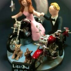 Motorcycle wedding cake topper made to order#wedding #weddingcaketopper #caketoppers #caketopper #motorcyclegroom #motorcyclewedding