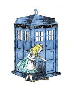 down the TARDIS hole