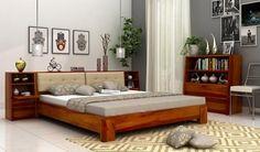 Bolivia Multi Storage Bed (King Size, Honey Finish)-1