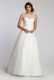 Tulle with Beaded Yoke Wedding Dress