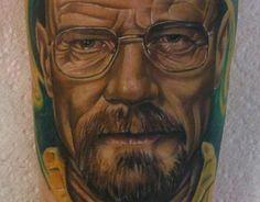 Portrait Tattoo Walter White - Breaking Bad