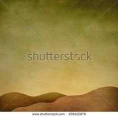 Illustration or background with autumn landscape. Computer graphics. - stock photo