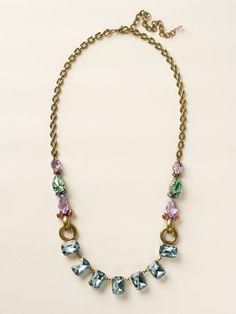 Multi-Cut Crystal Long Strand Necklace in Spring Rain by Sorrelli - $200.00 (http://www.sorrelli.com/products/NCY11AGSPR)
