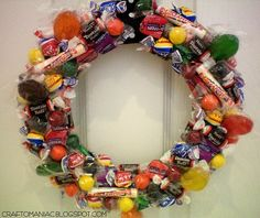 Wreath for halloween or maybe a brthday party