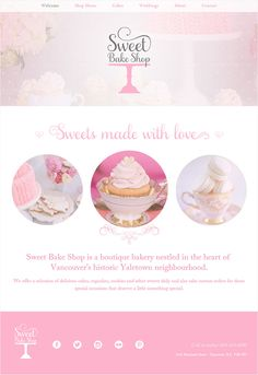 Cupcake Website Design Inspiration