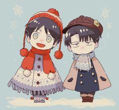 Eren & Levi by Tachibana Amane (Amane01a)
