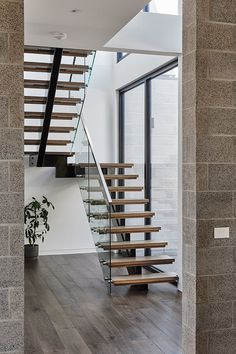 Stair style, allow for steel to be electrical chaseway, add lighting to stair treads and place on motion/ambient sensors