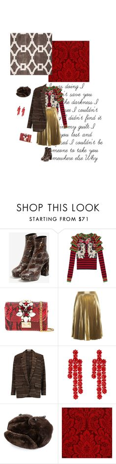 """""""#753"""" by joktojotta ❤ liked on Polyvore featuring Uterqüe, Gucci, GEDEBE, A.L.C., Étoile Isabel Marant, Simone Rocha, Crown Cap, Casadeco, Jaipur and snakeskin"""