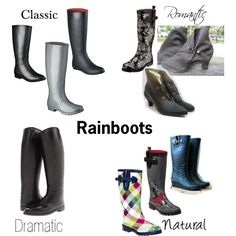 """""""Kibbe Types: Rainboots"""" by furiana on Polyvore"""
