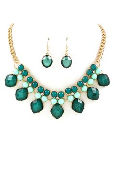 Michelle Necklace in Teal