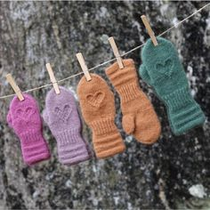 Lune HjerteVotter til barn – KongleDesign Crochet Clothes, Beauty Secrets, Fingerless Gloves, Arm Warmers, Mittens, Knitting, Armenia, How To Make, Loom Knit
