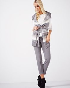 This belted cardigan is the piece that will pull your outfit together. Style yours with a long sleeve top and a pant for a look that