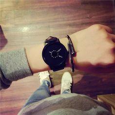 New fashion creative watches women men quartz-watch 2016 BGG brand unique dial design lovers' watch leather wristwatches clock