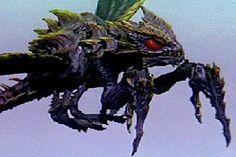 "Megaguirus   -The insectoid queen of a species of big prehistoric bugs called ""Meganulons,""  Appearances: Godzilla vs. Megaguirus"